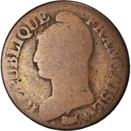 Coin, France, Dupré, 5 Centimes, AN 8, Lille, VG(8-10), Bronze, KM:640.11