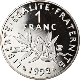 Coin, France, Semeuse, Franc, 1992, Paris, BE, MS(65-70), Nickel, KM:925.2