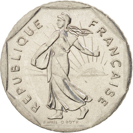 Coin, France, Semeuse, 2 Francs, 1996, Paris, AU(50-53), Nickel, KM:942.2