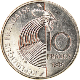 Coin, France, Schumann, 10 Francs, 1986, Paris, AU(55-58), Nickel, KM:958