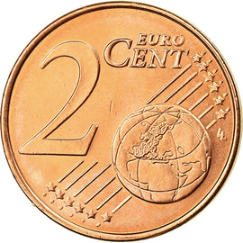 Greece, 2 Euro Cent, 2002, MS(63), Copper Plated Steel, KM:182