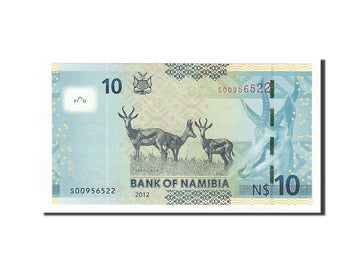 Banknote, Namibia, 10 Namibia dollars, 2012, 2012, KM:11a, UNC(65-70)