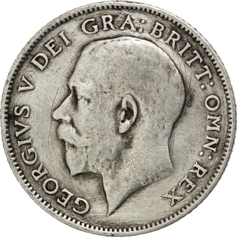 GREAT BRITAIN, 6 Pence, 1914, KM #815, VF(30-35), Silver, 19.5, 2.76