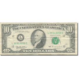 Banknote, United States, Ten Dollars, 1995, KM:4119, EF(40-45)