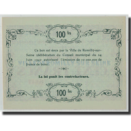 100 Francs, 1940, France, UNC(63), Romilly sur Seine