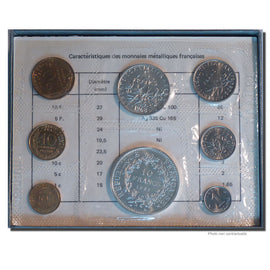 FRANCE, Proof Set, 1968, MS(65-70), Gadoury #page 287, 95.33