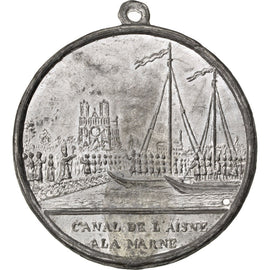 FRANCE, Shipping, French Second Republic, Medal, 1848, AU(55-58), Tin, 48, 15.00