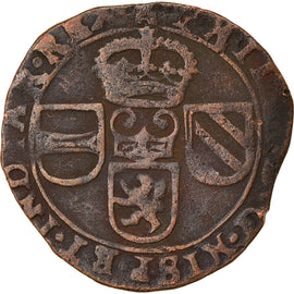 Coin, Spanish Netherlands, TOURNAI, Philip IV, Liard, 12 Mites, 1653, Tournai