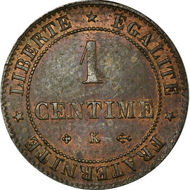 Coin, France, Cérès, Centime, 1878, Bordeaux, AU(50-53), Bronze, KM:826.2