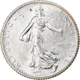 Coin, France, Semeuse, Franc, 1916, Paris, MS(60-62), Silver, KM:844.1