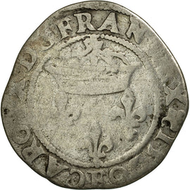 Coin, France, Charles IX, Double Sol Parisis, 1570, Angers, VF(20-25), Silver