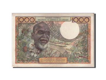 West African States, 1000 Francs, 1961, KM #103Ac, 1961-03-20, UNC(63), O.35A...