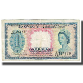 Banknote, Malaya and British Borneo, 1 Dollar, 1953, 1953-03-21, KM:1a