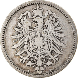 Coin, GERMANY - EMPIRE, Wilhelm I, Mark, 1881, Berlin, VF(20-25), Silver, KM:7