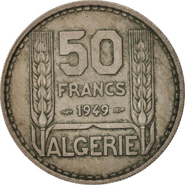 Algeria, 50 Francs, 1949, Paris, AU(50-53), Copper-nickel, KM:92