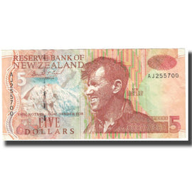 Banknote, New Zealand, 5 Dollars, KM:185a, EF(40-45)