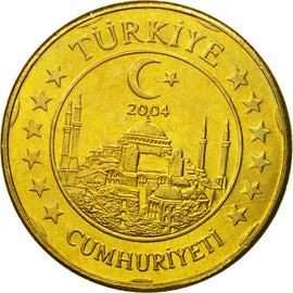 Turkey, Medal, Essai 20 cents, 2004, MS(63), Brass
