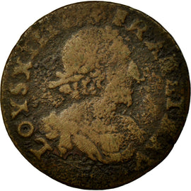 Coin, France, Double Tournois, 1638, F(12-15), Copper, Gadoury:11