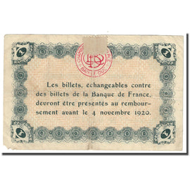 France, Bar-le-Duc, 1 Franc, Chambre de Commerce, VG(8-10), Pirot:19-3