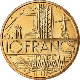 Coin, France, Mathieu, 10 Francs, 1983, Paris, MS(65-70), Nickel-brass, KM:940