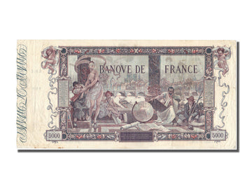 France, 5000 Francs, 5 000 F 1918 ''Flameng'', 1918, KM #76, 1918-01-11,...