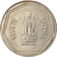 Coin, INDIA-REPUBLIC, Rupee, 1983, EF(40-45), Copper-nickel, KM:79.1
