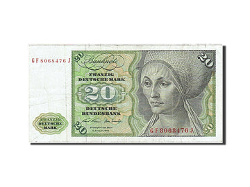 Banknote, GERMANY - FEDERAL REPUBLIC, 20 Deutsche Mark, 1970-1980, 1970-01-02