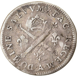 Coin, France, Louis XIV, 10 Sols aux insignes, 1704, Paris, VF(20-25), Silver