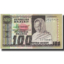 Banknote, Madagascar, 100 Francs =  20 Ariary, KM:63a, UNC(65-70)