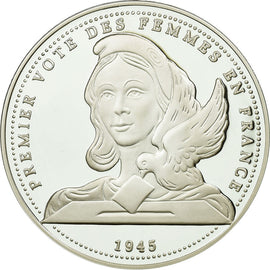France, Medal, Premier Vote des Femmes en France, History, MS(65-70), Silver