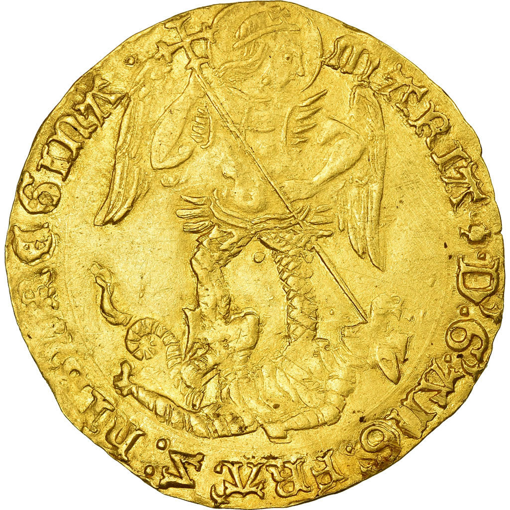Coin, Great Britain, Mary, Ange d'Or, Gold Angel, London, AU(50-53), Gold