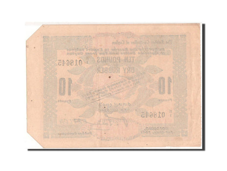Ceylon, Colombo, 10 Pounds of Dry Rubber, 1.5.1941, Pick UNL