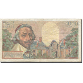 France, 1000 Francs, Richelieu, 1953, 1954-01-07, F(12-15), Fayette:42.4