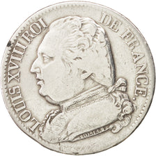 FRANCE Louis XVIII 5 Francs 1814 Limoges KM:702.6 VF(20-25) Silver Gadoury:591