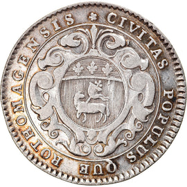 France, Token, Royal, Louis XV, Ville de Rouen, 1719, EF(40-45), Silver