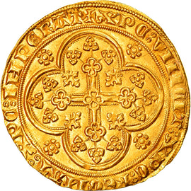 Coin, France, Flanders, Louis II de Mâle, Chaise d'or, MS(60-62), Gold