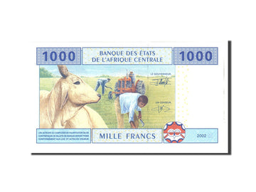 Banknote, Central African States, 1000 Francs, 2002, Undated, KM:507F