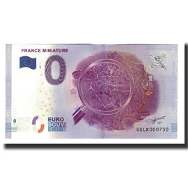 France, Tourist Banknote - 0 Euro, 78/ Elancourt - France Miniature, 2017, UNC