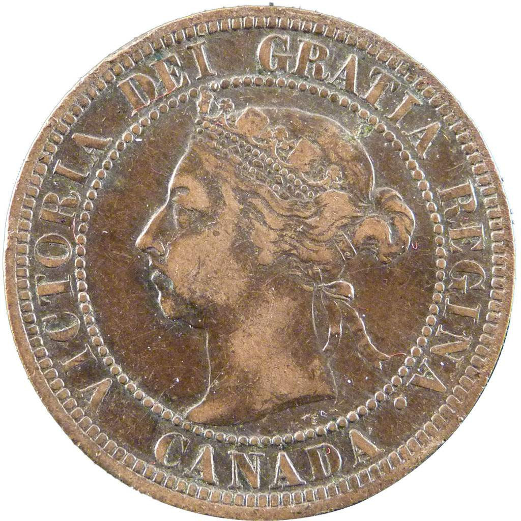 CANADA, Cent, 1890, Royal Canadian Mint, KM #7, EF(40-45), Bronze, 25.5, 5.70