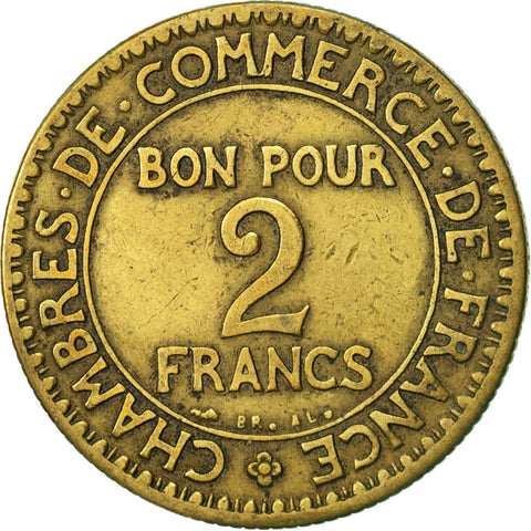 France chambre de commerce 2 francs 1923 paris vf 30 for Chambre de commerce fr