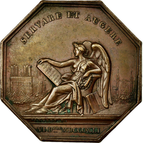 France, Token, Instruction and Education, 1841, AU(50-53), Bronze