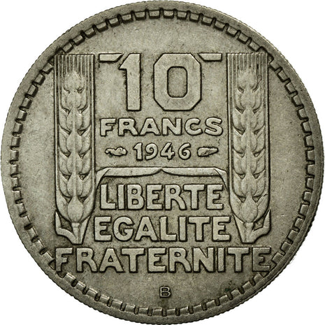 Coin, France, Turin, 10 Francs, 1946, Beaumont le Roger, EF(40-45)