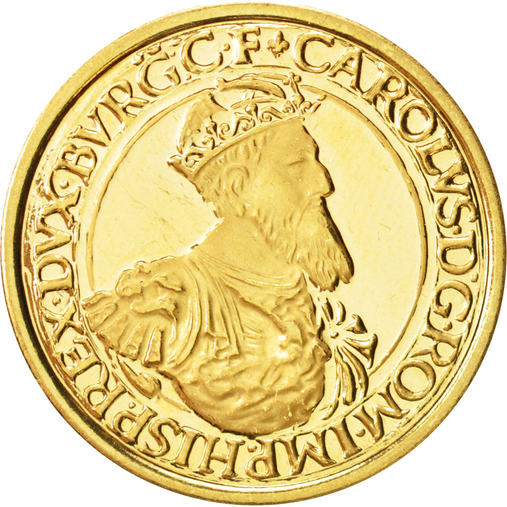 Coin, Belgium, 50 Ecu, 1987, MS(63), Gold, KM:167