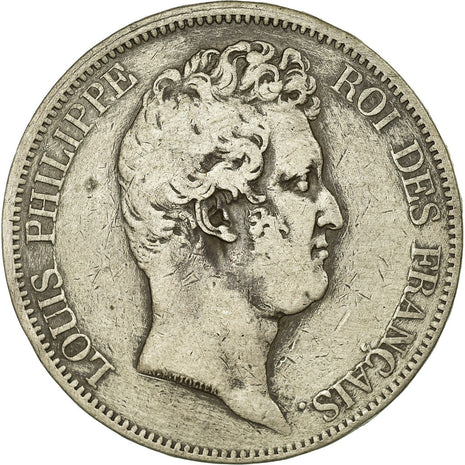Coin, France, Louis-Philippe, 5 Francs, 1830, Paris, VF(30-35), Silver, KM:738