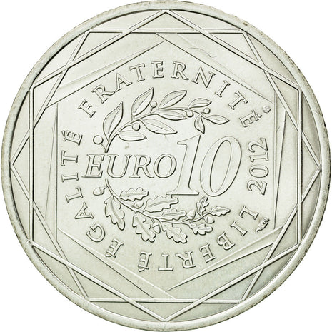 Coin, France, 10 Euro, 2012, MS(63), Silver, KM:1864