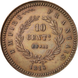 Coin, France, 10 Centimes, 1816, Brussels, AU(55-58), Bronze, Gadoury:197