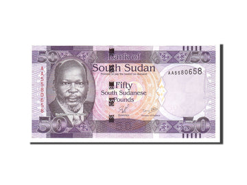 South Sudan, 50 Pounds, 2011, Undated, KM:9, UNC(65-70)