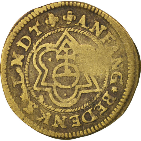 France, token count with Christ globe , Token, AU(50-53), Brass, 18mm