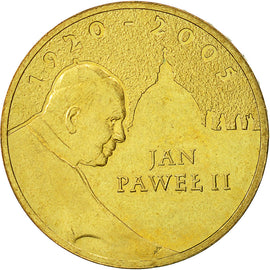 Coin, Poland, 2 Zlote, 2005, Warsaw, MS(60-62), Brass, KM:525