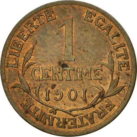Coin, France, Dupuis, Centime, 1901, Paris, AU(55-58), Bronze, KM:840